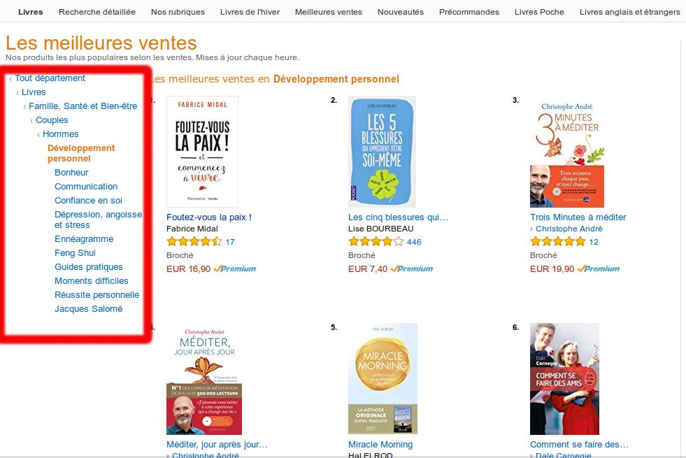 le développement personnel selon Amazon