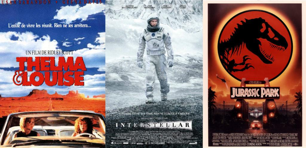 Interview développeuse du dimanche 3 films préférés Thelma et Louise Interstellar Jurassic Park